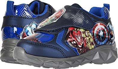 f5228a47c Marvel Avengers Lighted Athletic Shoes Blue Toddler Little Kid (7 M US  Toddler)