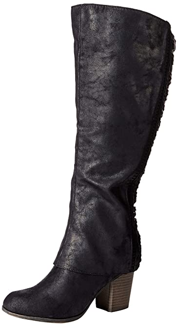 e5339c45b4f Fergalicious Women s Tender Wide Calf Knee High Boot Black 8.5 ...