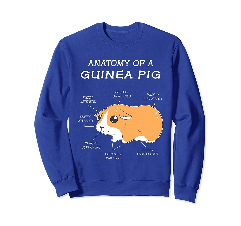Anatomy Of A Guinea Pig Funny Chubby Pet Sweatshirt-ln