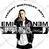 Swell 7 5 Eminem Theme Edible Icing Birthday Cake Topper Amazon Co Uk Funny Birthday Cards Online Bapapcheapnameinfo