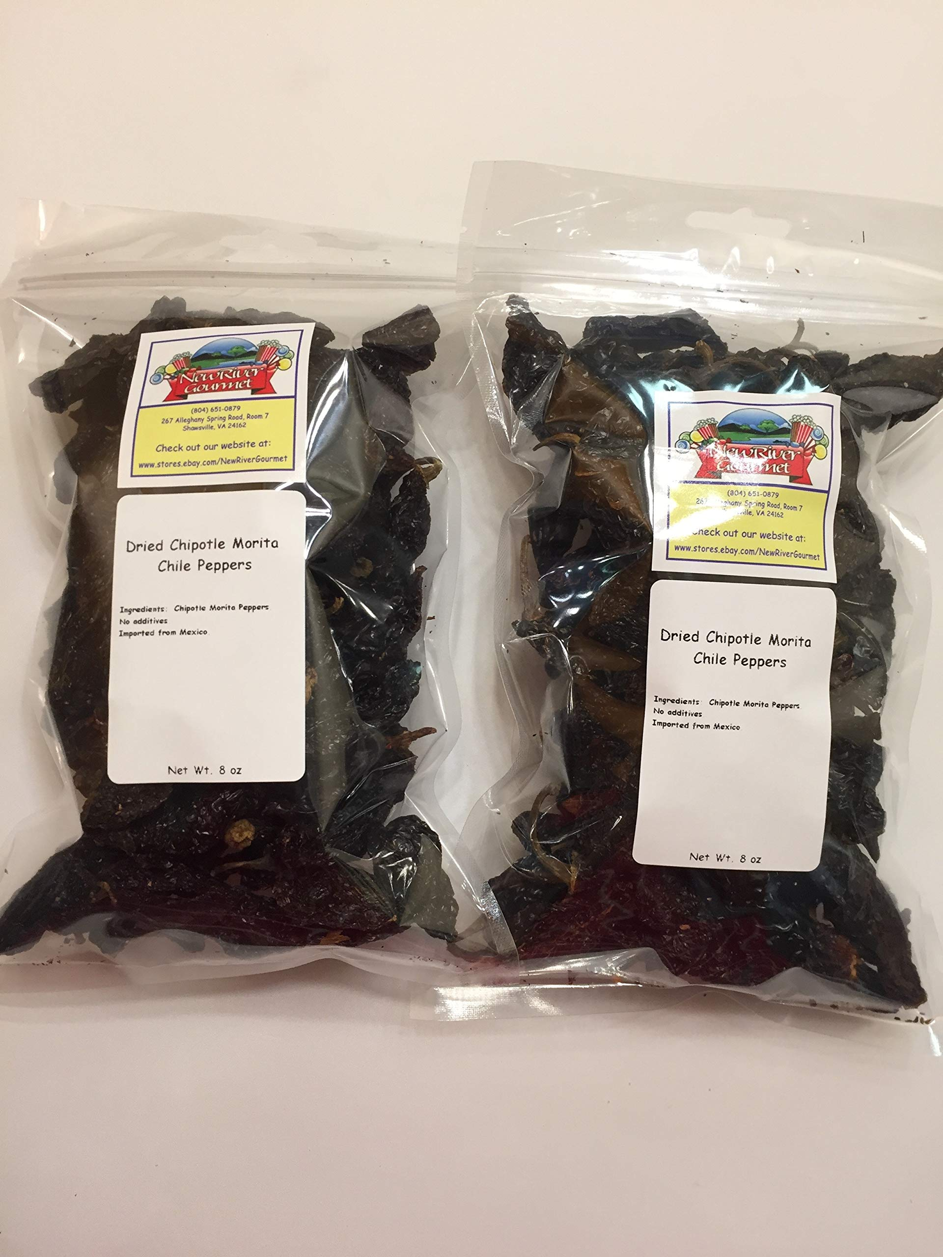 Whole Chipotle Morita Chiles From Mexico (8 ounces (Pack of 2))