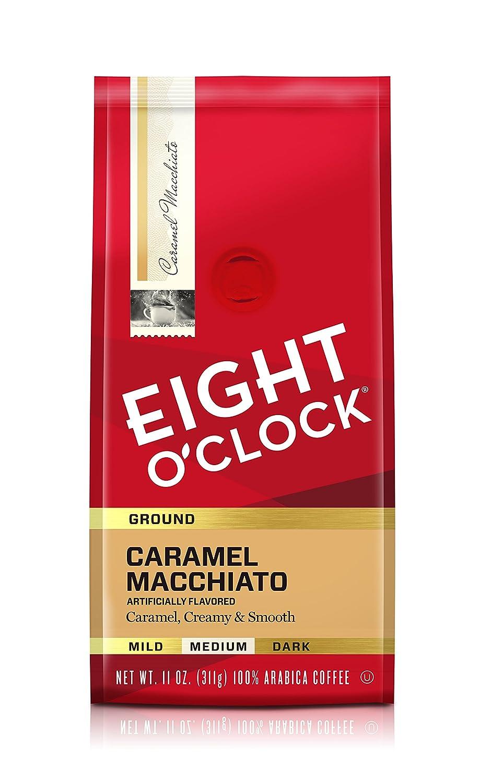 Eight O'Clock Coffee Caramel Macchiato, Medium Roast, Ground Coffee, 11 Ounce (Pack of 1), 100% Arabica, Kosher Certified