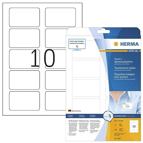 Amazon.com: Herma 4589 - Etiquetas autoadhesivas para nombre ...