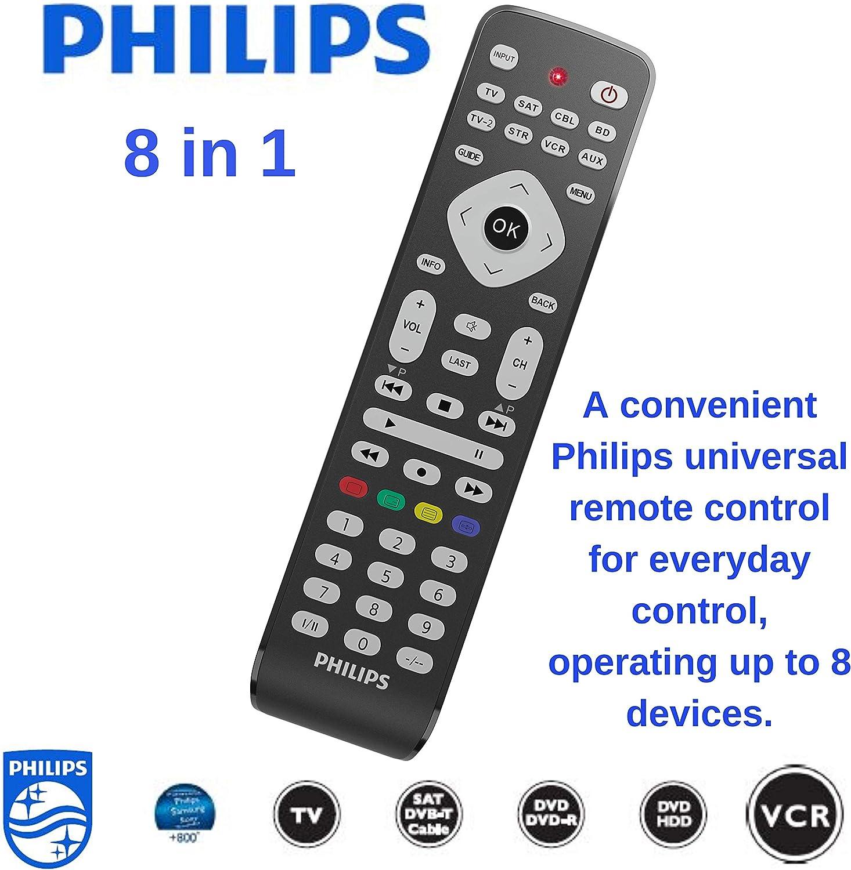 Philips - Mando a Distancia Universal para televisores Samsung y Todas Las demás Marcas (LED, Smart TV 8-1): Amazon.es: Electrónica