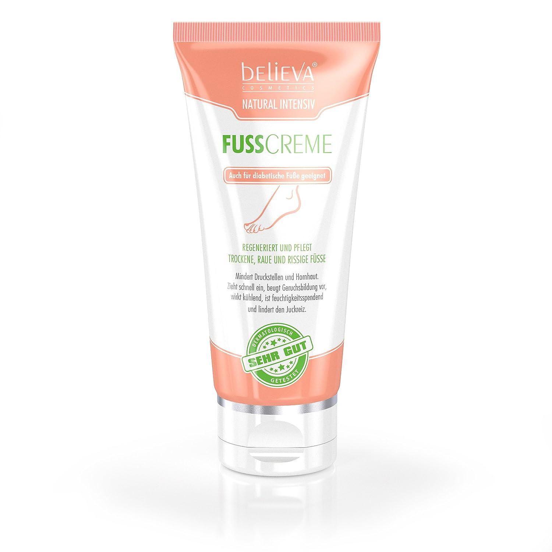 Believa Crema Piedi Naturale ed Intensiva - Crema vegana per la cura dei piedi contro Duroni, Screpolature e Piedi Secchi (100ml) Believa GmbH