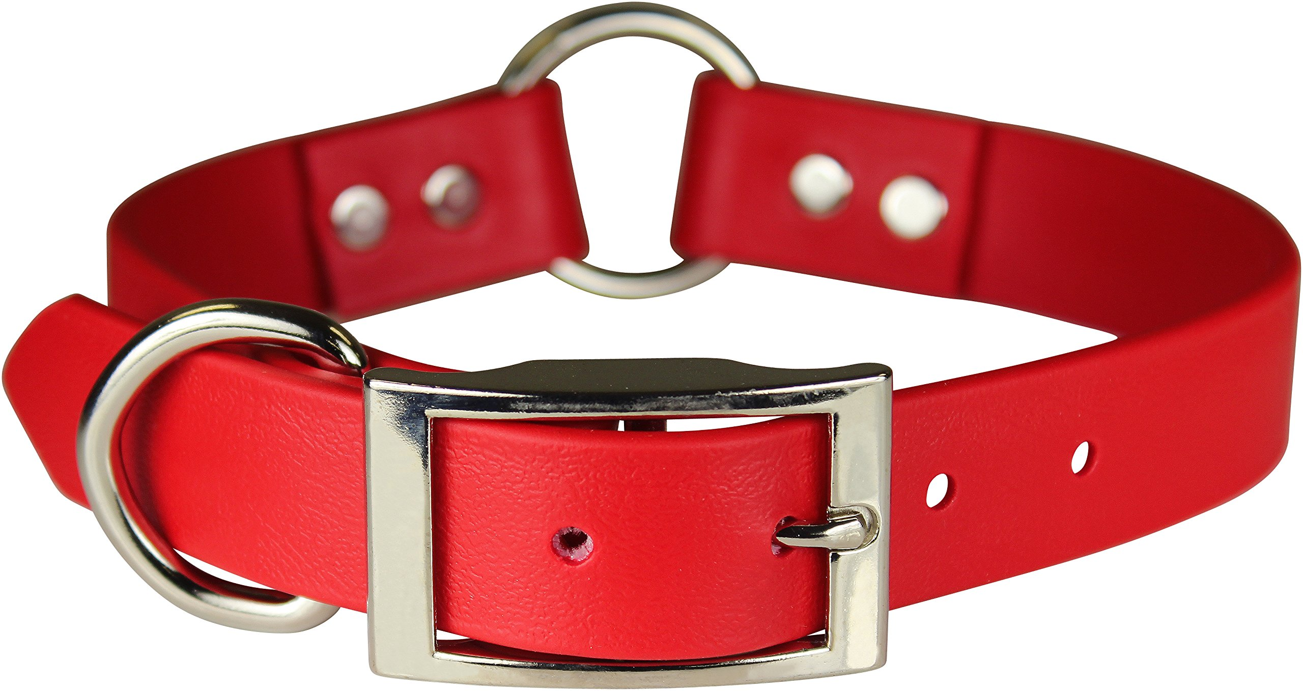 OmniPet Zeta Ring in Center with Dee Dog Collar, 1 x 24, Red