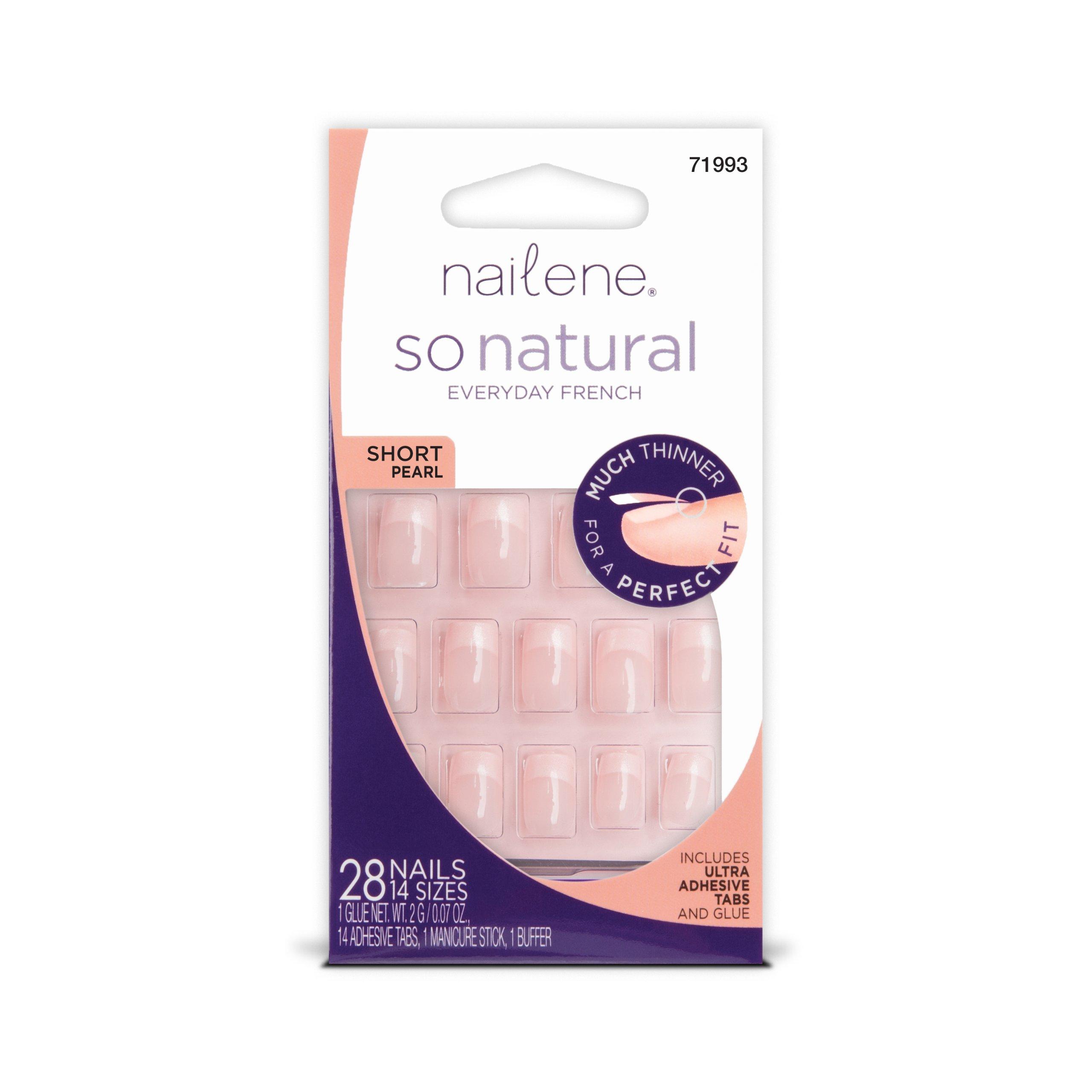 Nailene So Natural Nail, Short Pearl, 28 Count