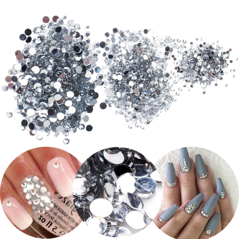 3D-Nagelkunst, Maniküren-Box,mit 3000 durchsichtigen, farbigen Strasskristallen und Edelsteinen, Juwelen-Dekorationen in 3 verschiedenen Größen Maniküren-Box VAGASHOP