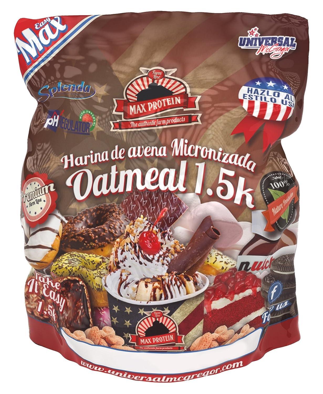 Max Protein Oatmeal Harina de Avena Termo-Activada - 1500 gr ...