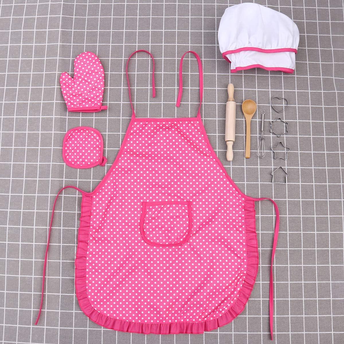 /Sacabocados para la ni/ña /Kit ni/ños Cuisiner jugar conjunto de regalo 11pcs con un delantal en forma de sombrero de chef/ bestonzon ni/ños Chef Set/