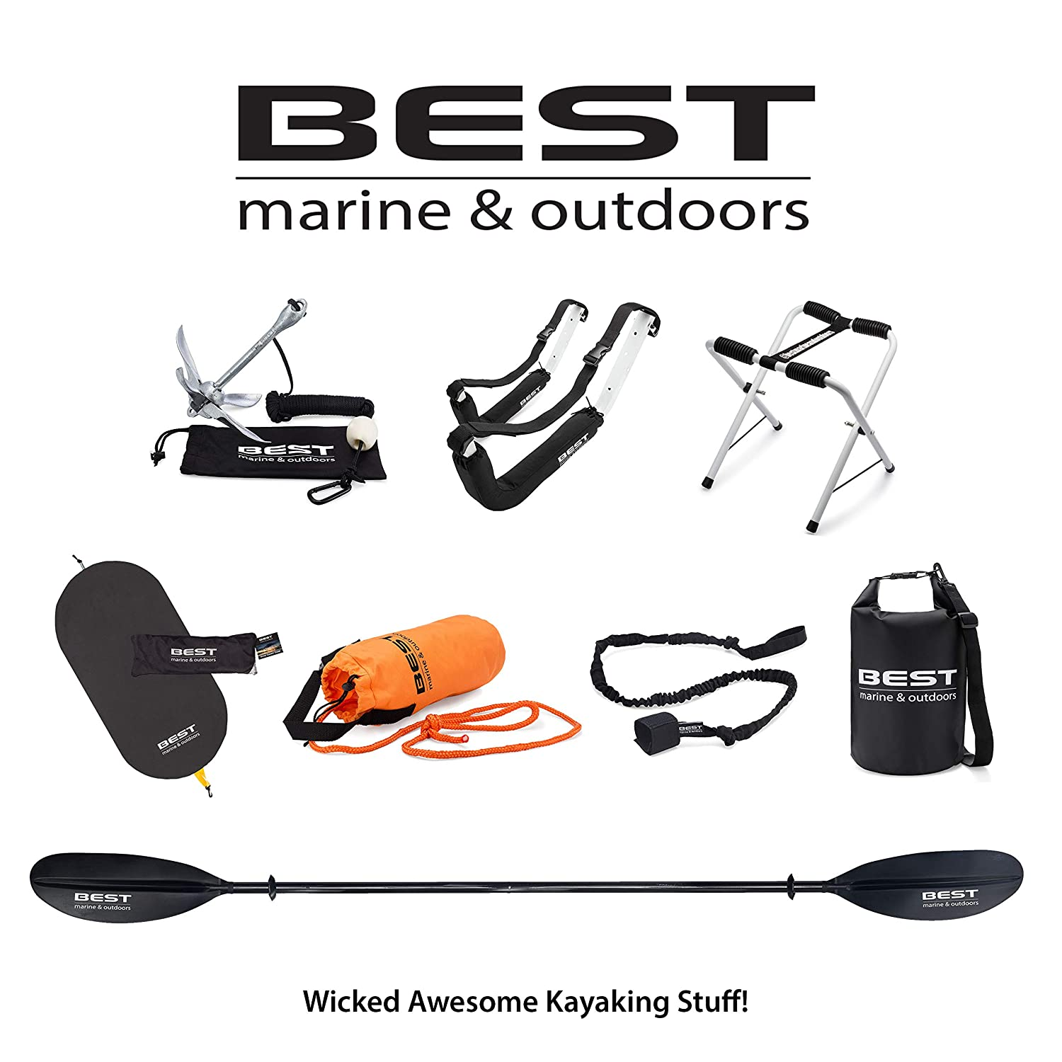 Canoes /& SUP Paddle Boards Nylon Bungee Leashes for Kayak Oars Fiberglass or Carbon Fiber Paddles Aluminum Best Kayak Paddle Leash for Kayaks