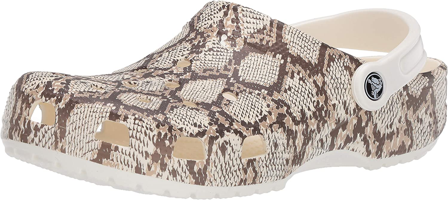 Crocs Unisex-Adult Classic Animal Print Clog | Zebra and Leopard Shoes
