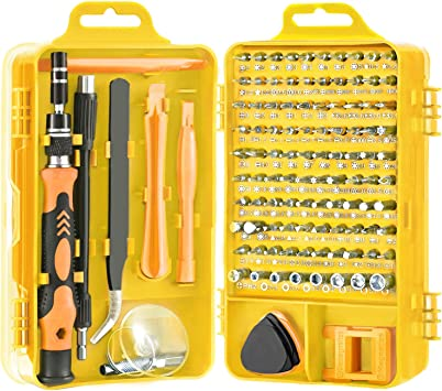 Hardness Up to 60HRC Screwdriver Chrome Vanadium Alloy Magnetic Professional Repair Tools for iPhone//MacBook Air//Watch 115 in 1/Screwdrivers Set with PP case HBselect Precision Screwdriver Set