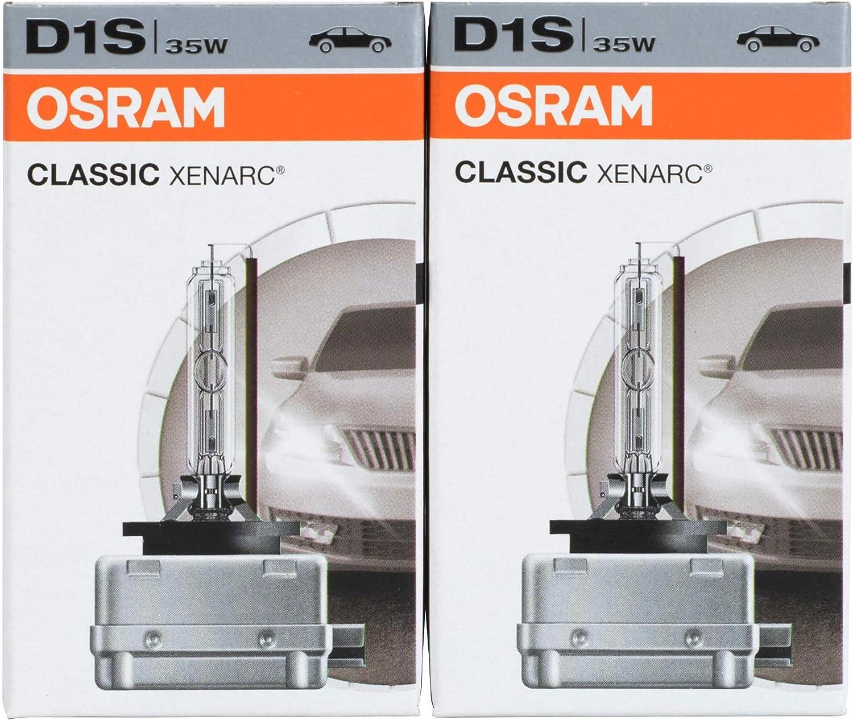 2 St/ück Osram 66140CLC XENARC ORIGINAL D1S HID Xenon-Brenner Erstausr/üsterqualit/ät OEM Faltschachtel Ersatzlampe