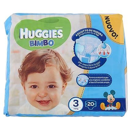 Huggies - Bimbo - Pañales - Talla 3 (4-9 kg) - 20