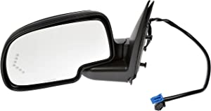 Dorman 955-675 Driver Side Power Door Mirror - Heated / Folding with Signal for Select Chevrolet / GMC Models, Black