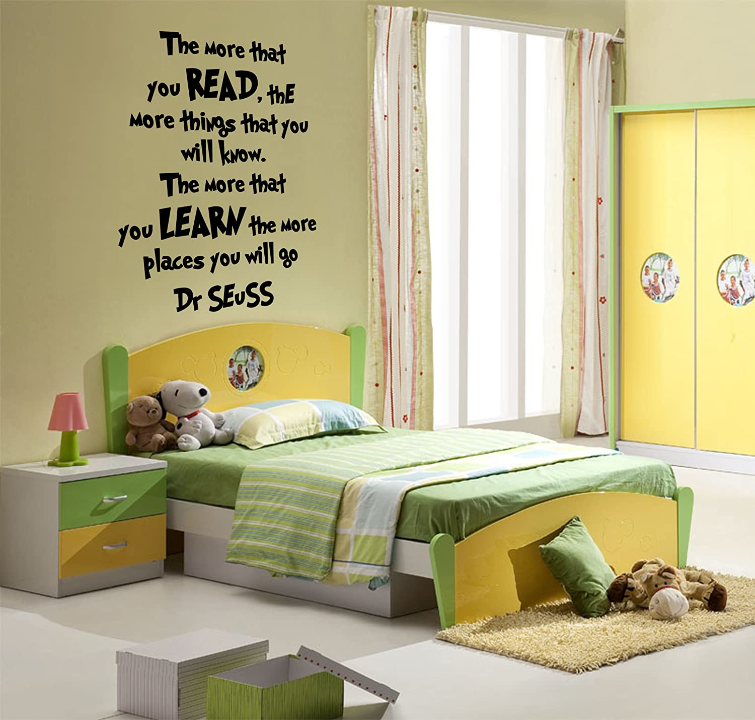 Amazon.com: THE MORE YOU READ THE MORE YOU LEARN DR SEUSS, Wall Art ...
