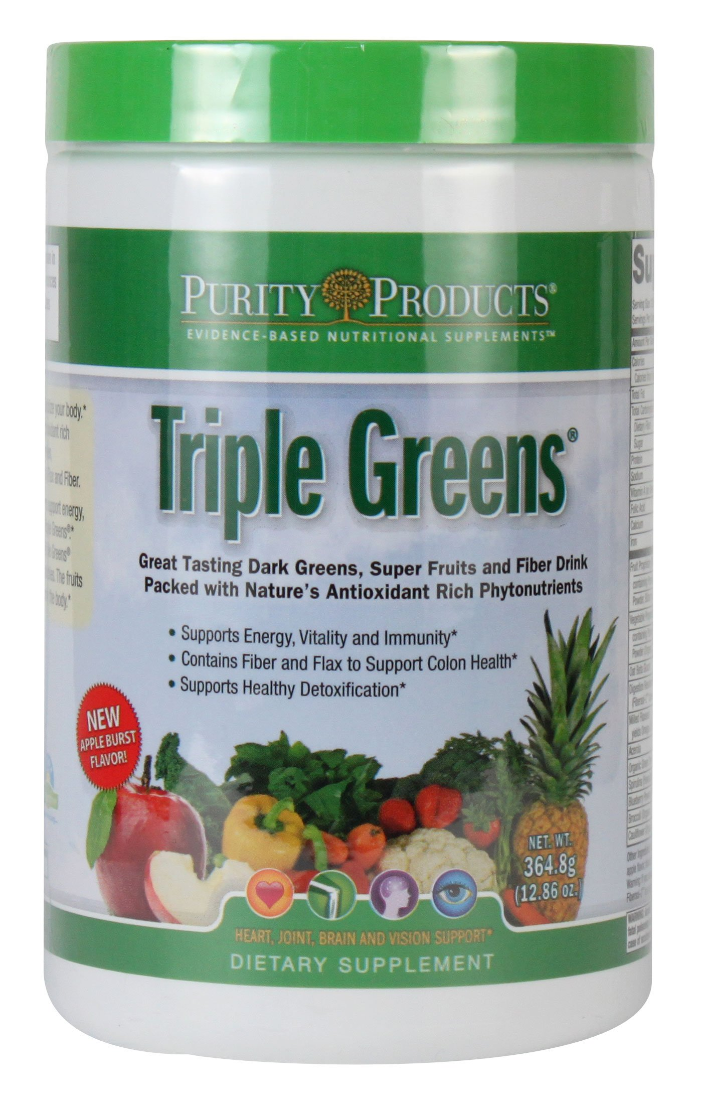 Triple Greens Powder - 364.8g/12.86oz - 30 Servings, from Purity Products