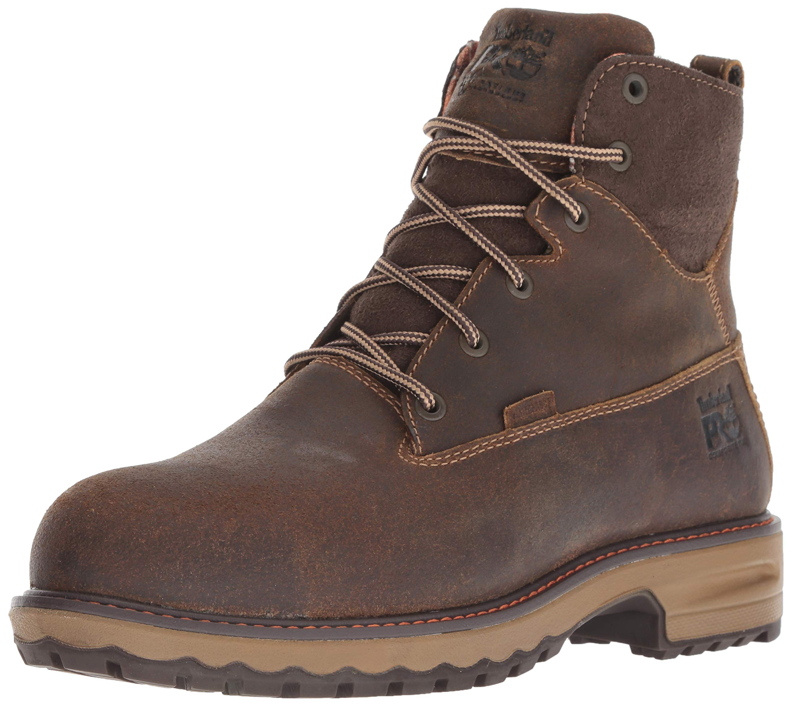 Timberland PRO Women's Hightower 6'' Composite Toe Waterproof Insulated Industrial Boot, Brown Distressed Leather, 6.5 M US by Timberland PRO