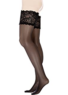 cb24943ceb7 GLAMORY Women s Comfort Lace Top Hold Ups