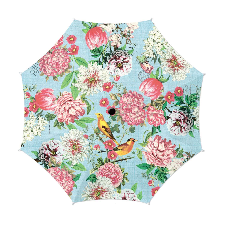 Michel Design Works Travel Umbrella 38'' Diameter, Garden Melody