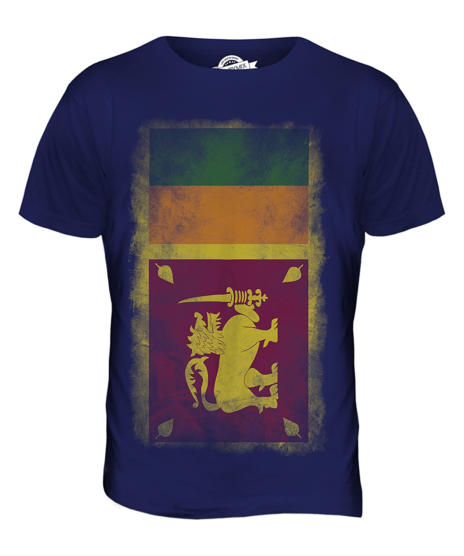 CandyMix Sri Lanka Verblichen Flagge Herren T Shirt: Amazon.de: Bekleidung