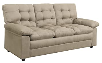 High Quality Mainstays Buchannan Microfiber Sofa And Couch Chair (Taupe)