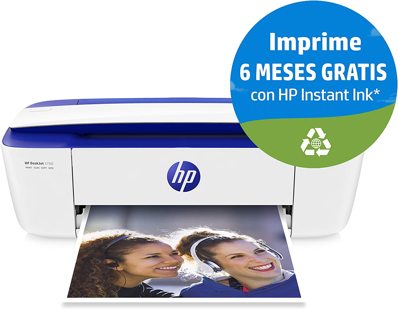 HP DeskJet 3760 - Impresora de tinta multifunción (8 ppm, 4800 x ...