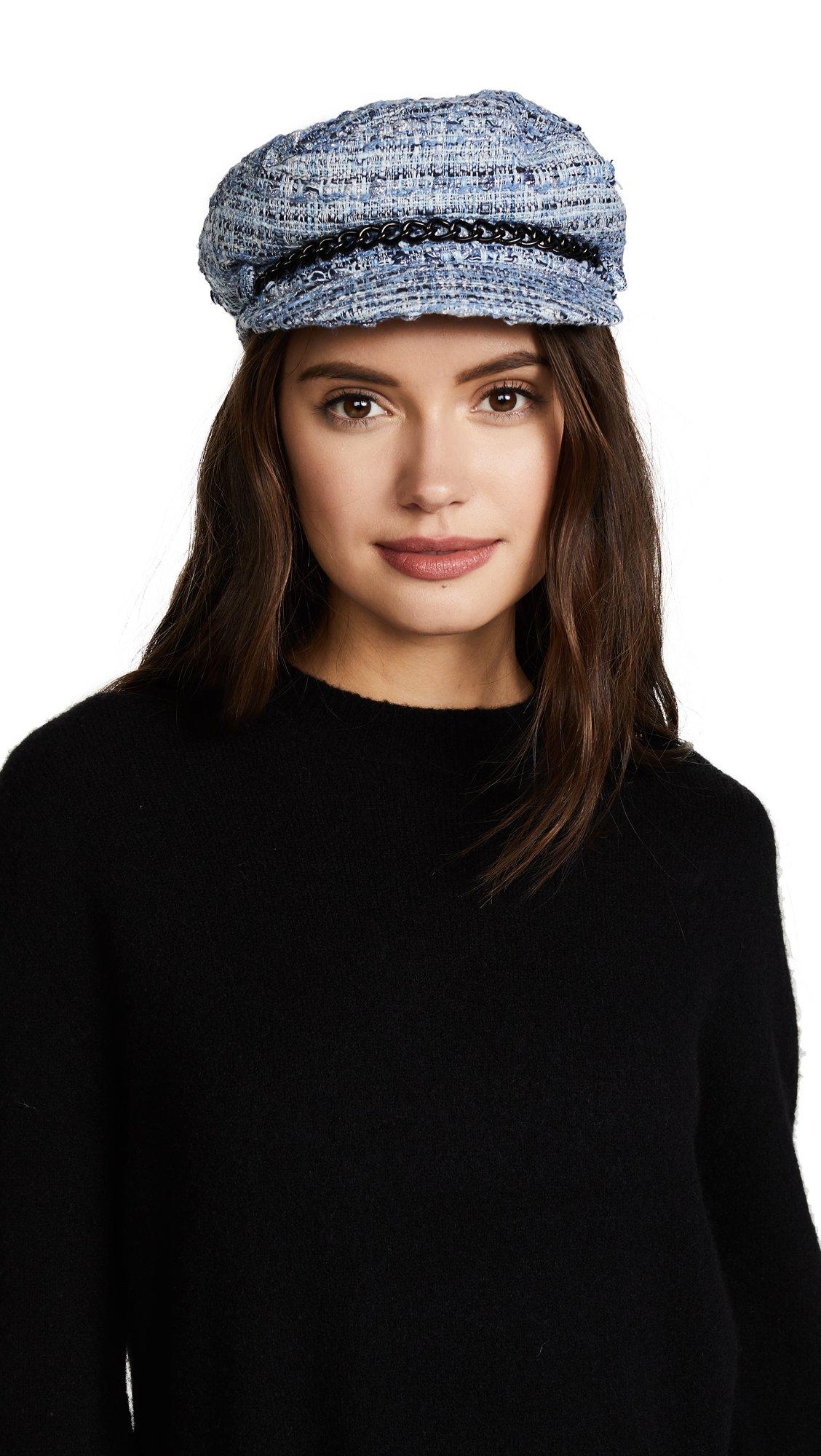 Eugenia Kim Women's Marina Newsboy Cap, Blue, One Size by Eugenia Kim