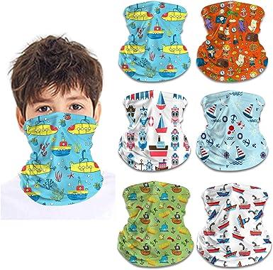 Face Scarf Kids Face Covering Neck Gaiter Kids Summer Gaiters for Children Bandanas Headband