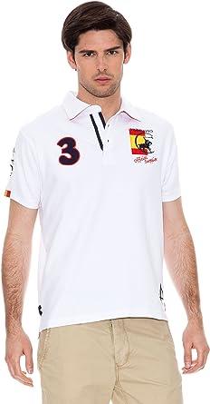 Valecuatro Polo Logo España Caballo Blanco L: Amazon.es: Ropa ...