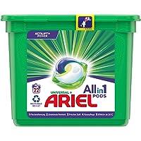 Ariel Wasmiddel Pods All-in-1, stralend zuiver, milieuvriendelijk wassen, 22 wasbeurten