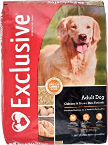 Exclusive | Adult Dog Food | Chicken and Brown Rice Recipe | Nutritionally Complete - 15 Pound (15 lb.) Bag