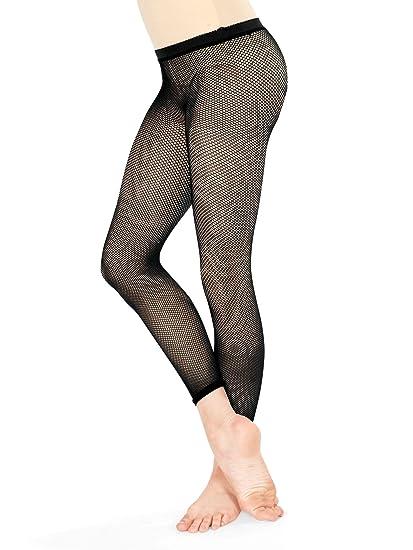 b849b9d8aaa38f Amazon.com: Girls Basic Capri Fishnet Tights T5800CBLK Black One-Size:  Clothing