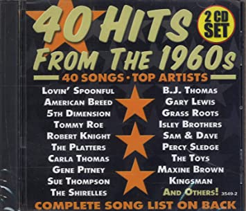 Various Artists - 40 Hits From The 1960s: 2 CD Set - Amazon com Music