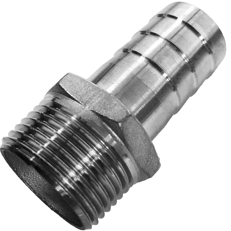 1//8 bis 2 Zoll WUNSCHGR/ÖSSE einfach selbst w/ählen  1//2 Zoll x 20mm R Schlaucht/ülle AG x T/ülle Au/ßendurchmesser in mm V4A GEWINDE FITTING aus EDELSTAHL