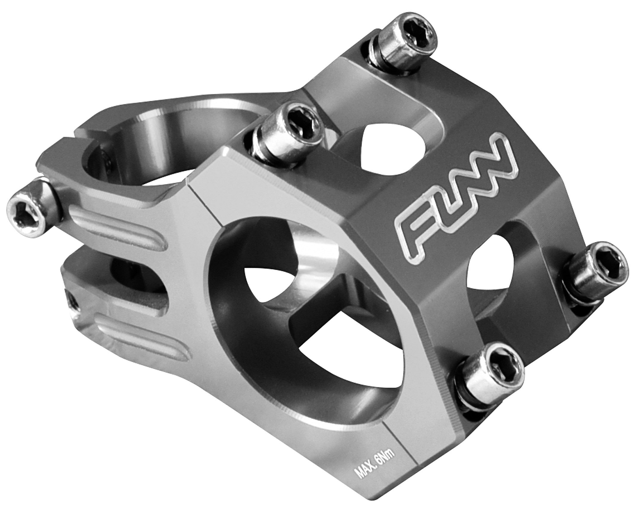 Funn Funnduro MTB Stem, Bar Clamp 31.8mm (Length 35mm, Gray)