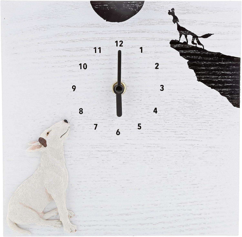 A29626 Bull Terrier Anglais Horloge Rock Jimmy the Bull