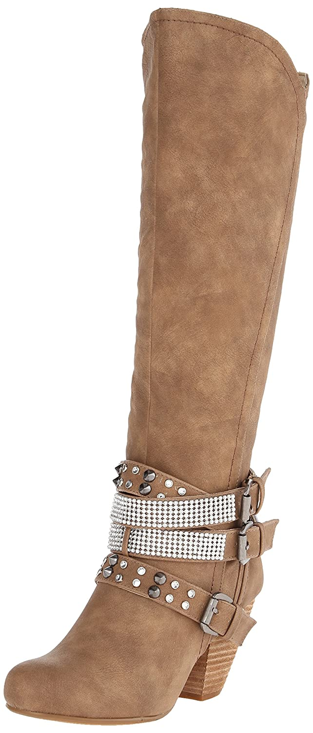 Not Rated Women's Cocktail Queen Riding Boot B00JH4HJCW 7.5 B(M) US|Nude