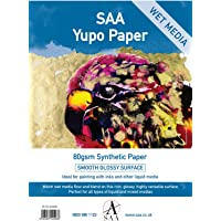 Yupo Wet Media Painting Paper 25 Loose Sheets A4 80gsm 296 x 210mm