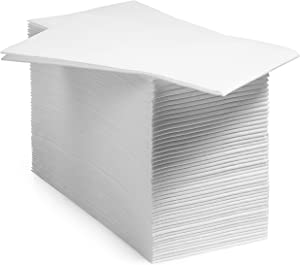 BloominGoods Disposable Bathroom Napkins   Linen-Feel Guest Towels   Cloth-Like Hand Tissue Paper, White (Pack of 1000)