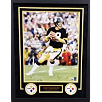 $199 » Terry Bradshaw Pittsburgh Steelers Autograph Signed Custom Framed 16x20 Photo Suede Matted GTSM Bradshaw PSA/DNA Certified