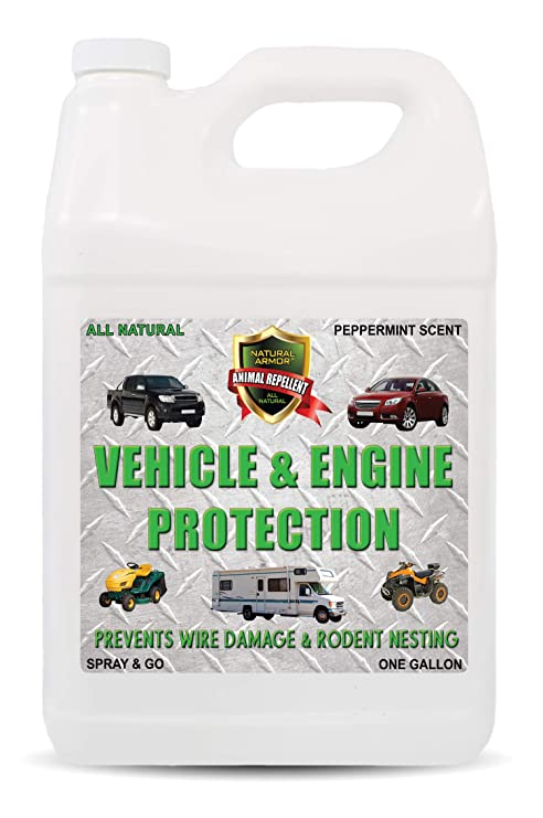 Natural Armor Engine & Vehicle Rodent Defense Repellent Spray for  Mice/Mouse, Squirrels, Rats  Prevents Wire Chewing and Nesting Provides  Protection