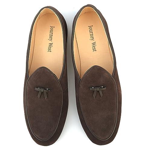 9cc38595bda47 Journey West Men's Vintage Loafers for Men Slip-on Loafer Penny Loafer  Casual Loafers
