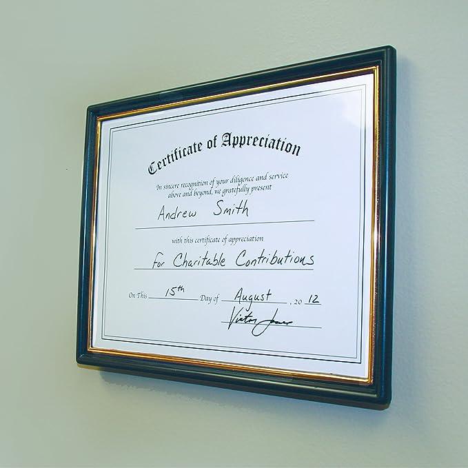 amazon com 8 5 x 11 ez mount pre framed award certificate frame