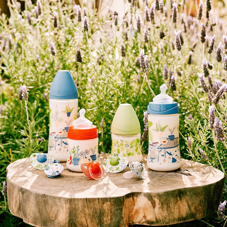 Broche pinza redondo Suavinex dise/ño Pecera azul Broche de chupetes para beb/és +0 meses 0/% BPA