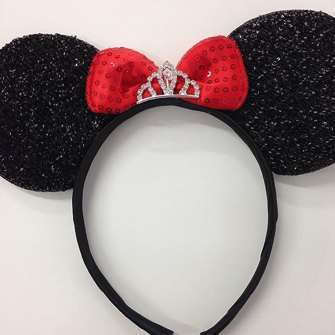 Amazon.com: Minnie Mouse Princesa Ears Headband/Disney ...