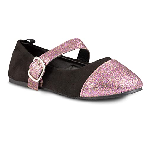 6e234cb2eeaeb1 Chillipop Girls Mary Jane Dress Slip on Ballerina Flats Toddler and Little  Kids