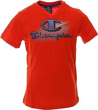 Champion Camiseta niño roja: Amazon.es: Ropa y accesorios