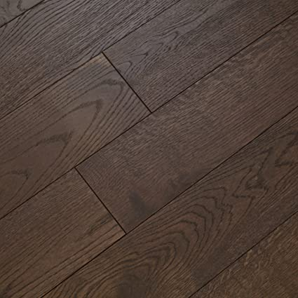 European White Oak Smoked Dark Brushed Oiled Hardwood Floor Sample